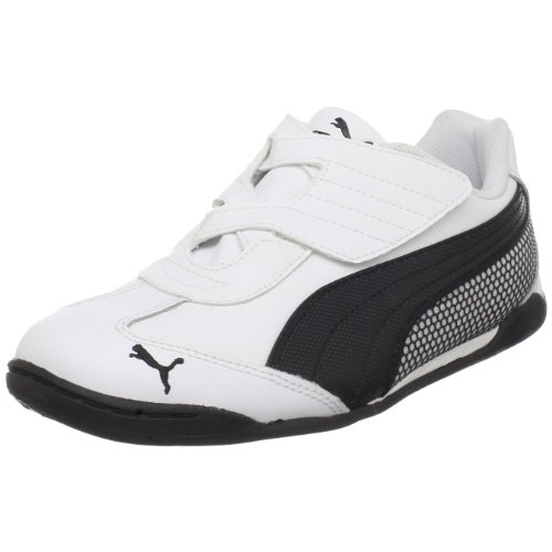 PUMA Delor Cat Hook-And-Loop Fashion Sneaker (Toddler/Little Kid),White/Black,9 M US Toddler