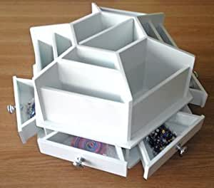 Stylish desk top girls make up dressing table storage for Recollections craft room storage amazon