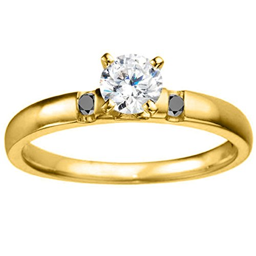 Yellow Silver Timeless Engagement Ring
