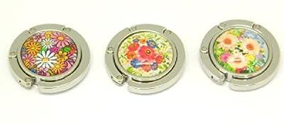 Set of 3 Handbag Flower design Bag Purse Folding Hanger Hook Holder Lady Gift MY- 2770