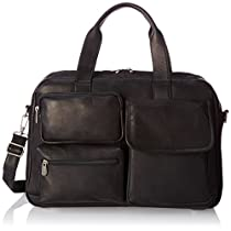 Piel Leather Multi-Pocket Carry-On, Black, One Size
