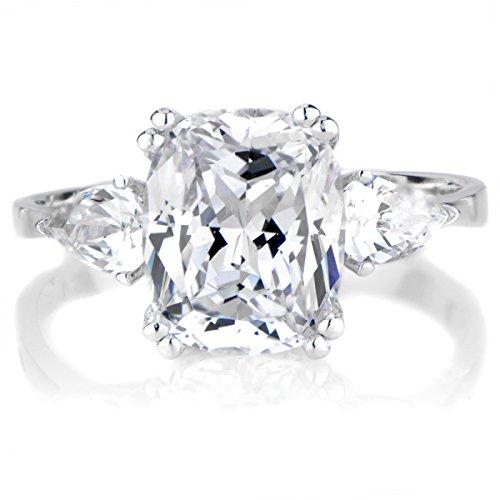 Anise'S Cushion Cut Cz Engagement Ring