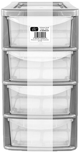 ehc-small-4-drawer-tower-plastic-storage-unit-silver