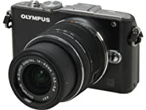 Olympus PEN E-PL3 14-42mm 12.3 MP Interchangeable Lens Camera with CMOS Sensor and 3x Optical Zoom (Black)