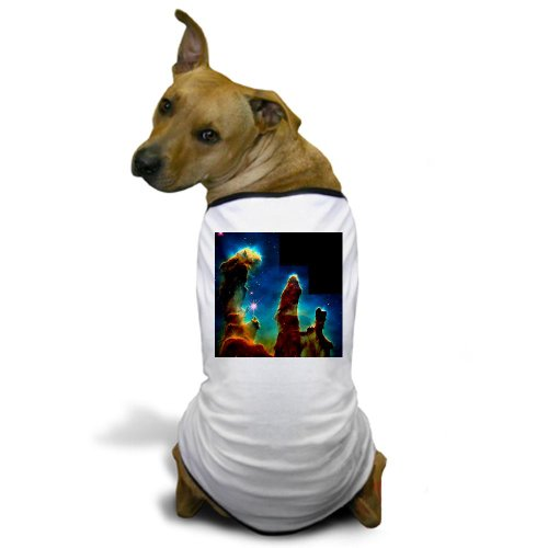 Cafepress Gas Pillars In Eagle Nebula - Dog T-Shirt - M White [Misc.]