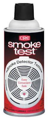 CRC Smoke Test Brand Liquid Smoke Detector Tester, 2.5 oz Aerosol Can, Clear