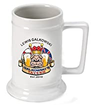 Personalized 16 oz. Bulldog Beer Stein (Set of 72)