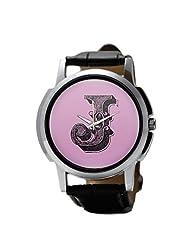 PosterGuy Alphabet J Typography Men's Wrist Watches
