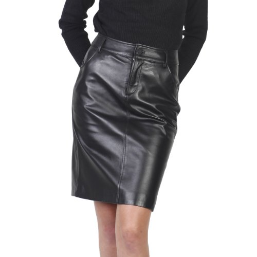 purchase bgsd womens classic lambskin leather pencil skirt