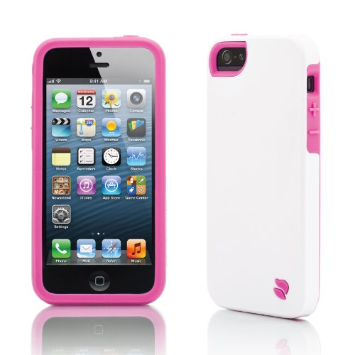 Innovez Eco Friendly Interchangeable iPhone 5 Case (White/Pink)