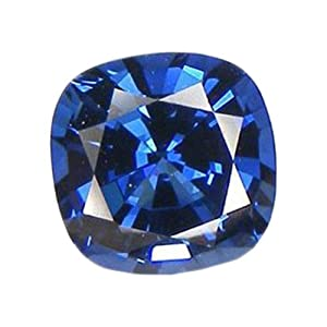 Blue Cushion Sapphire Facet Unset Loose Gemstone 9mm Lab