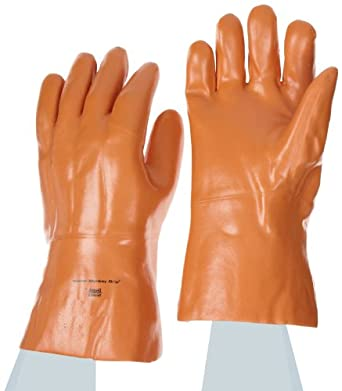 Ansell Winter Monkey Grip 23-152 Vinyl Glove, Fully Coated on Jersey Liner, X-Large (Pack of 6 Pairs)