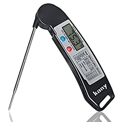 Digital Instant Read Thermometer,Kany Electronic Food Thermometer Cooking Thermometer Barbecue Meat Thermometer With Collapsible Internal Probe For Grill Cooking Kitchen Candy(Battery Include)