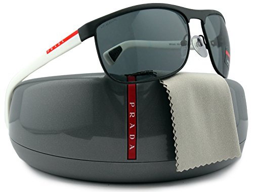 Prada-Linea-Rossa-SPS54Q-Men-Sunglasses-Gray-wGray-TIG-3C2-PS-54QS-TIG3C2-63mm-Authentic