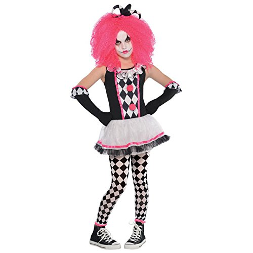 Girls-Circus-Sweetie-Teen-Child-Clown-Fancy-Dress-Costume