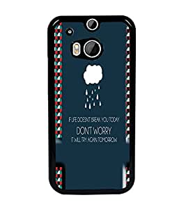 PrintDhaba Quote D-4488 Back Case Cover for HTC ONE M8s (Multi-Coloured)