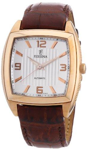 Festina F6799/A - Reloj analógico automático para hombre con correa de piel, color marrón