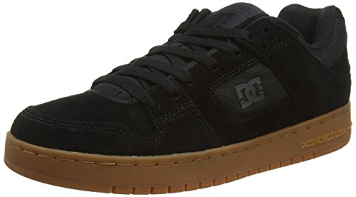 DC Shoes MANTECA M, Low-Top Sneaker uomo, Nero (Schwarz (Black/Black/Gum KKG)), 44