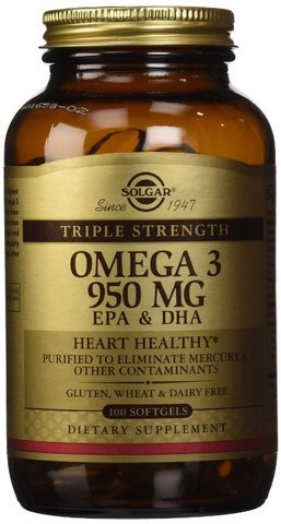 Solgar, Triple Strength Omega-3 950 mg, 100 Softgels ( Value Pack of 3) Solgar-gy (Omega 3 950 Mg Solgar compare prices)