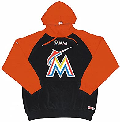 MLB Miami Marlins Men's Big Logo Pullover Hood