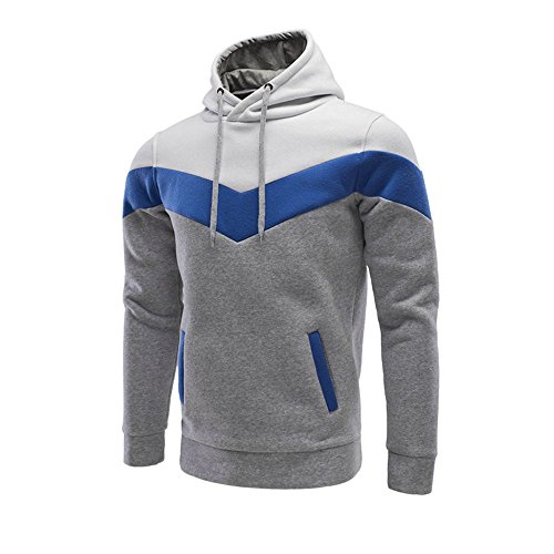 Pullover con cappuccio Color Block Felpe Giacche autunno degli uomini outwear