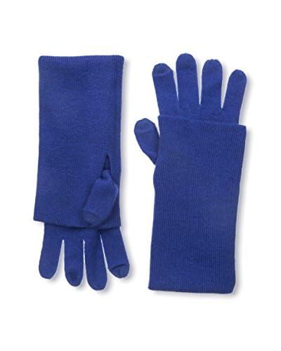Sofia Cashmere Women's Turnback Glove, Deep Blue