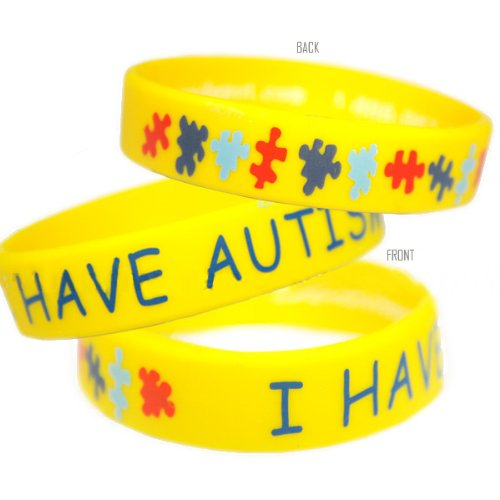 I Have Autism Bracelet - Adult Size (10 Pack)