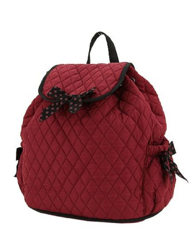 Belvah Quilted Drawstring Backpack Handbag
