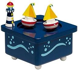 MusicBox Kingdom 43729 Dancing Boats Music Box Playing \