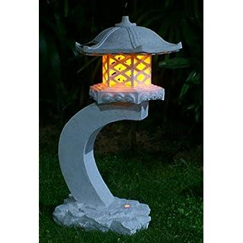 """TIAAN 24""""height Japanese style lantern Solar garden lamp Solar pagoda light"""