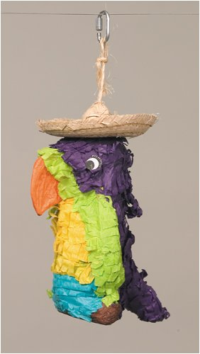 Polly Wanna Pinata, Parrot Preening Bird Toy for Parrots