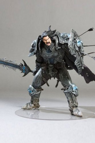 World of Warcraft Action Figure Toys For Boys DC Unlimited Series 2 Human Warrior Archilon Shadowheart WOW Model With Box MS0023