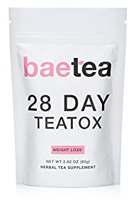 Baetea Weight Loss Tea: Detox, Body Cleanse, Reduce Bloating, & Appetite Suppressant, 28 Day Teatox,…