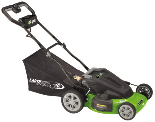 Earthwise 60236 20-Inch 36 Volt Side Discharge/Mulching/Bagging Cordless Electric Lawn Mower picture