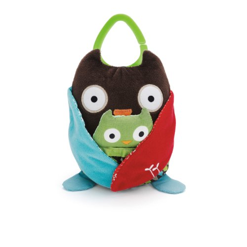 skip hop hug and hide stroller toy owl great website for quality baby products. Black Bedroom Furniture Sets. Home Design Ideas