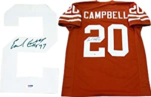 Earl Campbell HT 77 Autographed Texas Longhorns Jersey (PSA DNA)