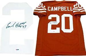 Earl Campbell HT 77 Autographed Texas Longhorns Jersey (PSA DNA)