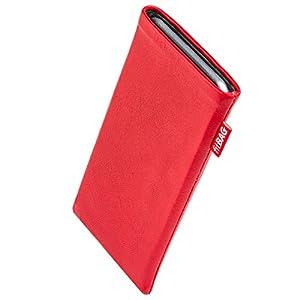 fitBAG Beat Rot Handytasche Tasche aus Echtleder Nappa mit Microfaserinnenfutter für Nokia Lumia 520