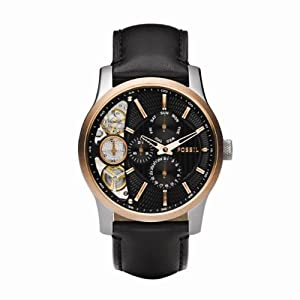 Fossil Herren-Armbanduhr Halbautomatik ME1099 Twist Rose Gold IP