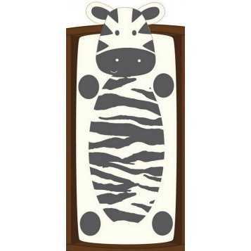 Cocalo Plushy Changing Pad Cover, Zebra back-1054149
