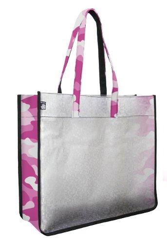 Pink Camo Beach Stadium Tote Bag