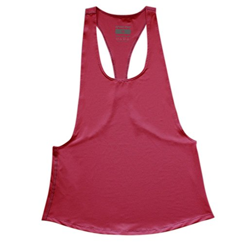 Highdas Canotte Quick Dry Donne allentato Gym Fitness senza maniche Vest Canotta Running Training T-shirt Watermelon Red M