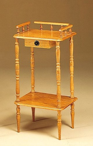 Coaster Phone Stand / Side Table, Oak Wood Finish front-924731