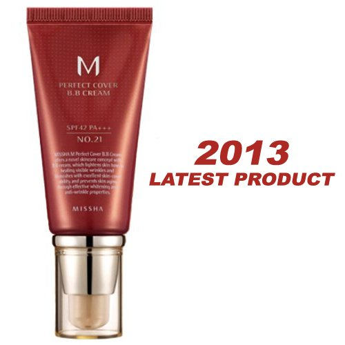 Missha M Perfect Cover B.B. Cream SPF 42 PA+++ 21 Light Beige, 1.69oz