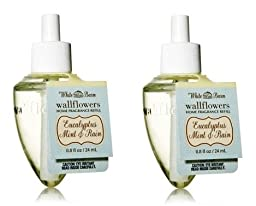 Eucalyptus Mint & Rain Wallflowers - 2 Refill bulbs - Bath & Body Works