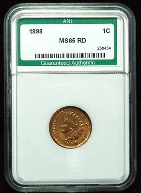 Buy 1898 ANI Indian Head Penny MS-65 RED