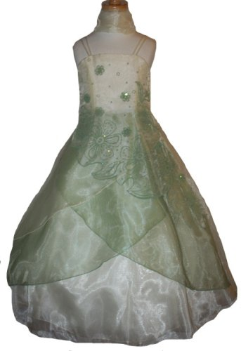 New Two Tone Layered Organdy Pageant Flower Girl Dress Assorted Colors Available 4 to 14 Girls