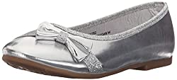 Rugged Bear RB15348 Ballet Flat (Little Kid/Big Kid), Silver Mirror, 12 M US Little Kid