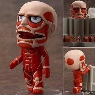 "Cute Anime 4"" Nendoroid Attack on Titan Brinquedos Shingeki no Kyojin Hoover PVC Action Figure Juguetes Model Toys Doll"