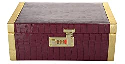 Isnh Brown Wooden Jewellery Box (Sn-J-014)
